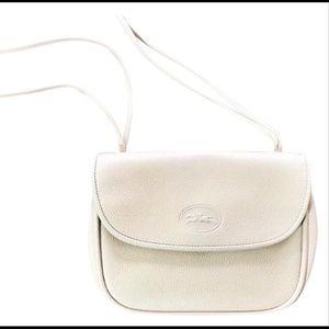 Longchamp vintage white purse leather